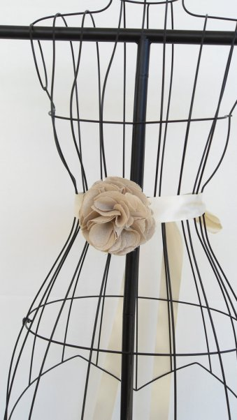 Bridal sash, by PaperFlora on etsy.com