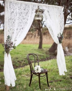 Lace wedding arch
