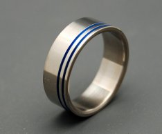 Men's titanium ring, by MinterandRichterDes on etsy.com