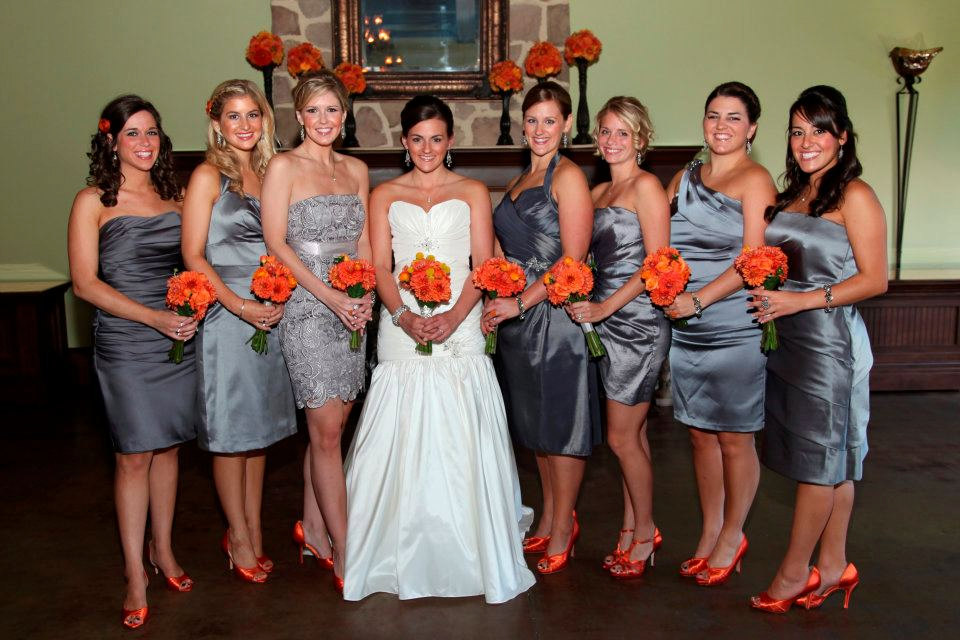 Orange and grey wedding inspiration  The Merry Bride