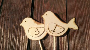 Table numbers, by RedHeartCreations on etsy.com