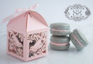 Wedding favours - box and macarons, by SplendidSweetShoppe on etsy.com