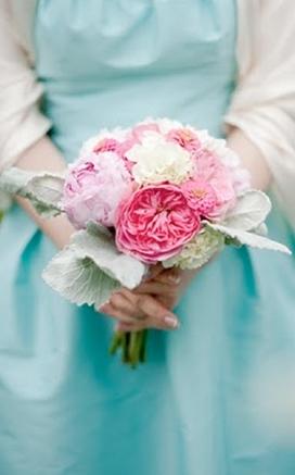 Aqua And Pink Wedding The Merry Bride
