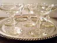 Champagne glasses, by KaiserVonVintage on etsy.com