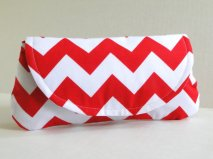 Chevron clutch purse, by PaperFlora on etsy.com