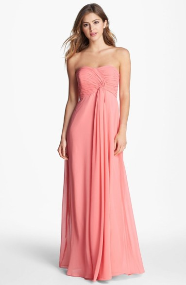 Donna Morgan 'Lisa' Strapless Front Draped Gown, from nordstrom.com
