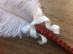 Feather pen, by CreationsByChristen on etsy.com