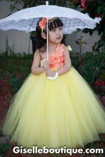 Flower girl tutu, by giselleboutique on etsy.com