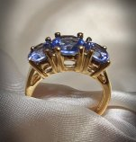 Vintage ceylon sapphire ring, from InVogueJewelry on etsy.com
