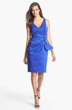 Maggy London Shirred Surplice Bodice Taffeta Dress, from nordstrom.com