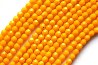 Marigold beads, by MACBEADSshop on etsy.com