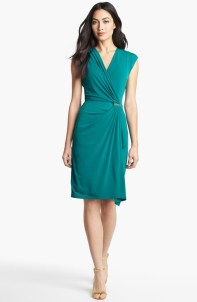 Michael Kors Cap Sleeve Faux Wrap Dress, from nordstrom.com