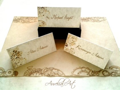 Placecards, by AurelialArt on etsy.com