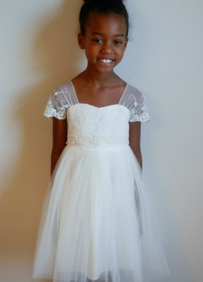 Flower girl dress, by FreshOffTheVine on etsy.com