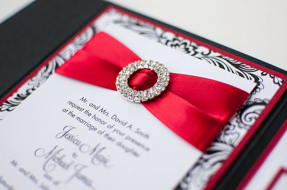 Black White And Red Wedding The Merry Bride