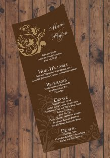 Personalised menu, by TheStudioDesigns on etsy.com