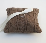 Ring pillow, by LilliansGarden on etsy.com
