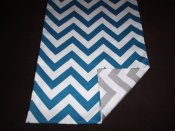 Chevron reversible table runner, by longrunners on etsy.com