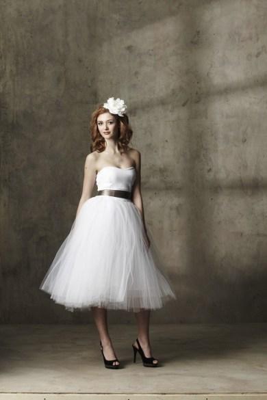 Tea-length wedding dress, by ouma on etsy.com