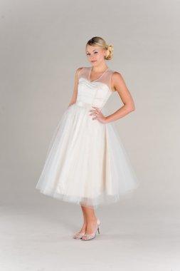 Tea-length wedding dress, by PureMagnoliaCouture on etsy.com