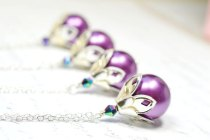 Bridesmaid necklaces, by WaterwaifWeddings on etsy.com