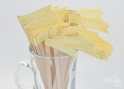 Drink stirrers, by dillpicklepicnic on etsy.com