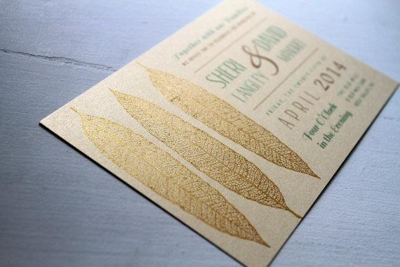 Wedding invitation, by GoldenSilhouette on etsy.com