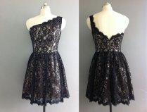 Black lace bridesmaid dress, by XOXOdress on etsy.com