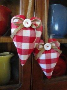 Gingham barn wedding heart decor, by DotAndAnn on etsy.com