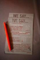 Great alternative to a guest book {via veraandrose.com}
