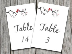 Printable table numbers, by PaintTheDayDesigns on etsy.com