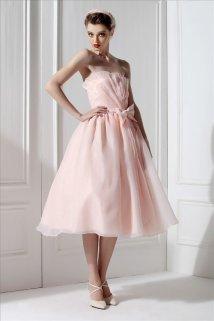 Tea-length wedding dress, by MyFairLady1950 on etsy.com