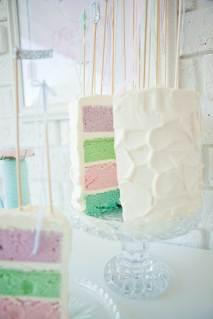 Wedding cake idea - pastels on the inside! {via modernwedding.com.au}