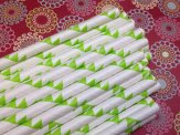 Apple-green paper straws, by pishposhparty on etsy.com