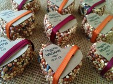 Birdseed wedding favours, by GreenDoxieEvents on etsy.com