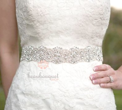 Bridal sash, by beaubouquet on etsy.com