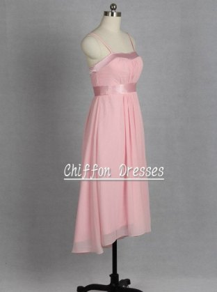 Light pink bridesmaid dress, by chiffondresses on etsy.com