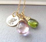 Personalised bridesmaid necklace, by TatianaG on etsy.com