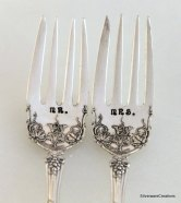 Personalised cake forks, by SilverwareCreations on etsy.com