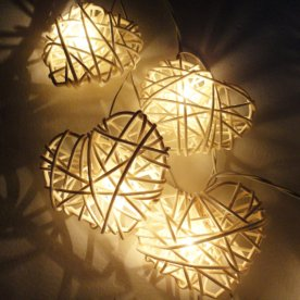 Rattan heart fairy lights, by marwincraft on etsy.com
