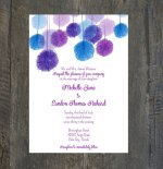 Wedding invitation, by SilhouetteDesign on etsy.com