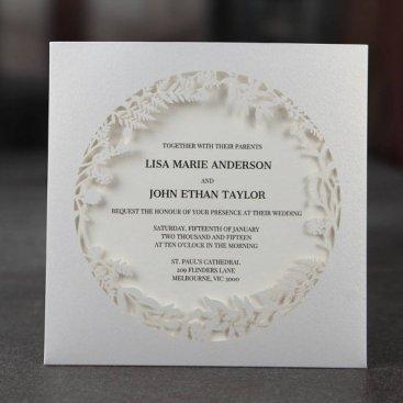 Enchanted forest laser-cut wedding invitation - www.etsy.com/shop/GiantInvitations