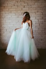Mint wedding dress, by ouma on etsy.com