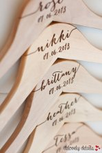 Personalised bridesmaid dress hangers, by delovelydetails on etsy.com