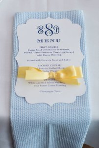 Reception menu cards, by lemonseedandco on etsy.com
