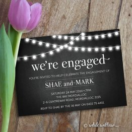 Engagement party invitation - www.etsy.com/shop/WhiteWillowPaper