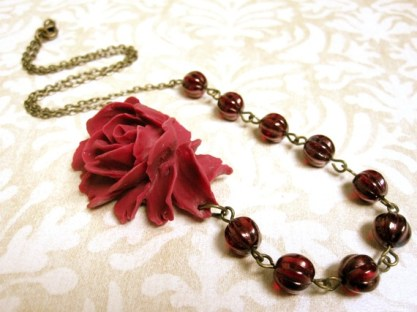 Oxblood bridesmaid necklace - www.etsy.com/shop/kbjhandmade