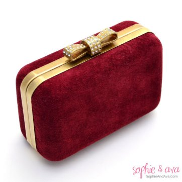 Oxblood clutch purse - www.etsy.com/shop/SophieAndAva