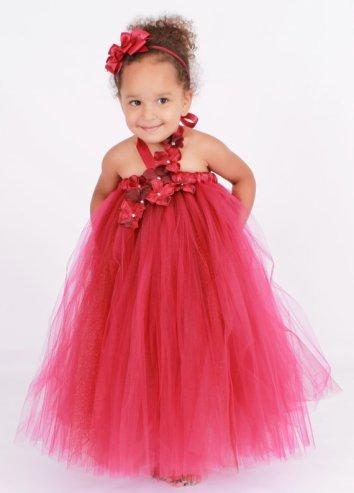 Ruby-red flower girl dress - www.etsy.com/shop/Cutiepatootiedesignz