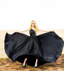 Black infinity bridesmaid dress - www.etsy.com/shop/MJVOCouture